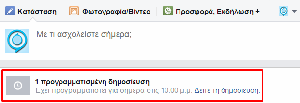 facebook how to schedule page posts