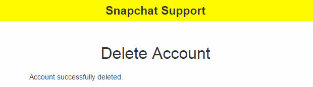snapchat how to delete account