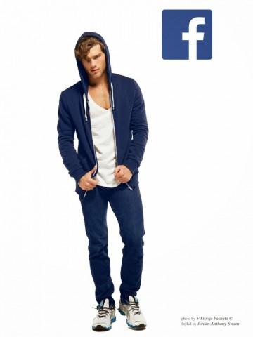 man dressed as facebook