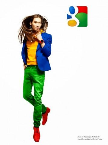 man dressed as google plus