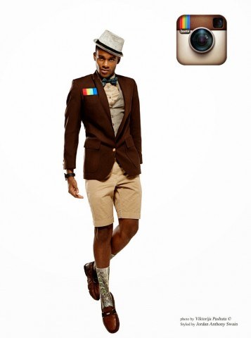 man dressed as instagram
