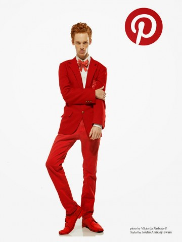 man dressed as pinterest