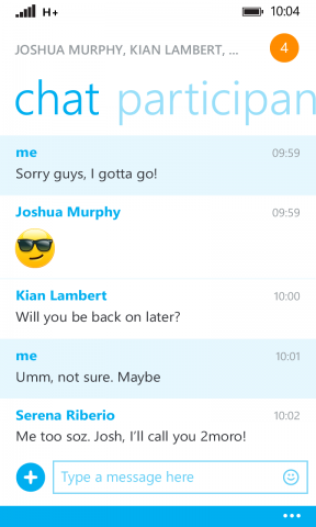 skype 2.25 for Windows Phone