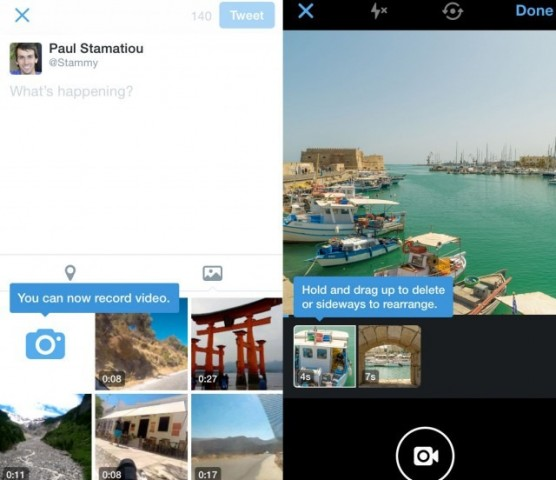 Twitter capture edit and share videos mobile