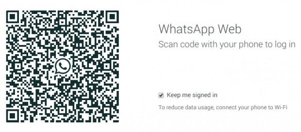 WhatsApp Web barcode