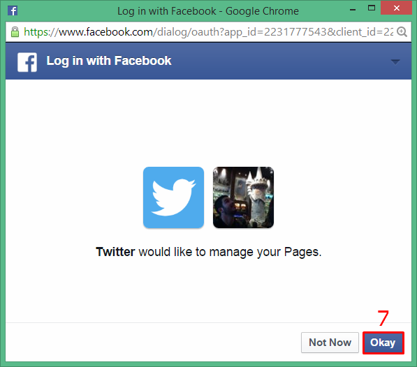how to auto post tweets to facebook 5