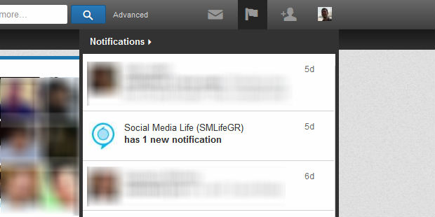 LinkedIn company pages new notification