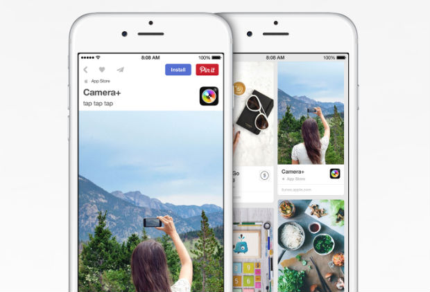 Pinterest App Pins for iOS users