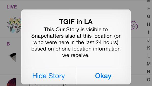 Snapchat TGIF in LA