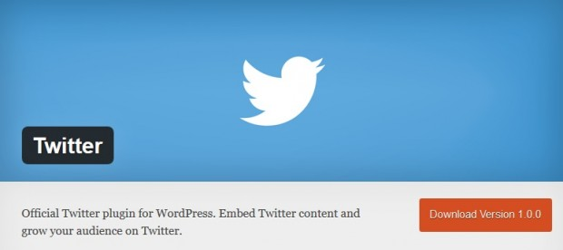 Twitter official plugin for WordPress