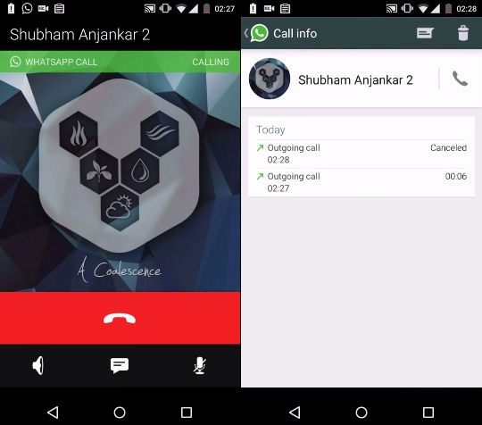 WhatsApp tests voice calls