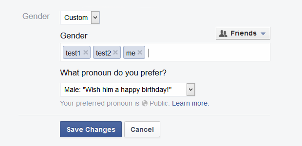 facebook gender can be anything