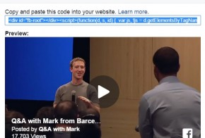 Facebook embed video