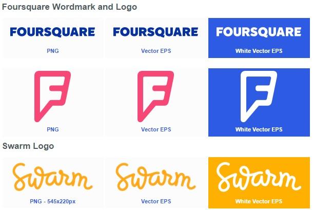 Foursquare and Swarm Logos