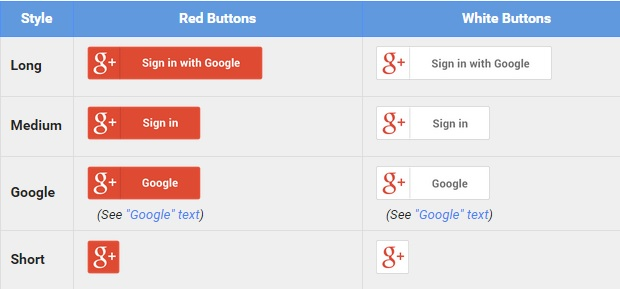 Google Plus Logos and Badges