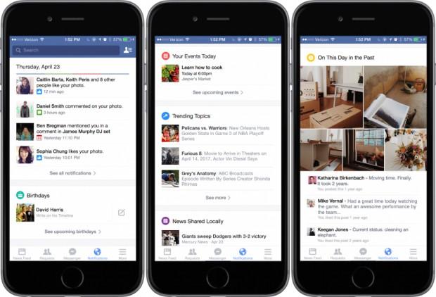 Facebook new notifications