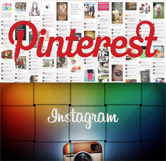 INSTAGRAM and Pinterest