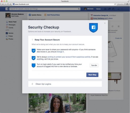 facebook security checkup