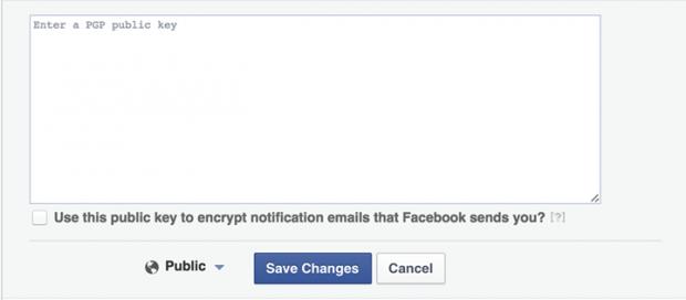 Facebook Encrypted emails
