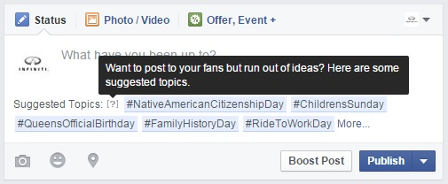 Facebook Suggested Topics