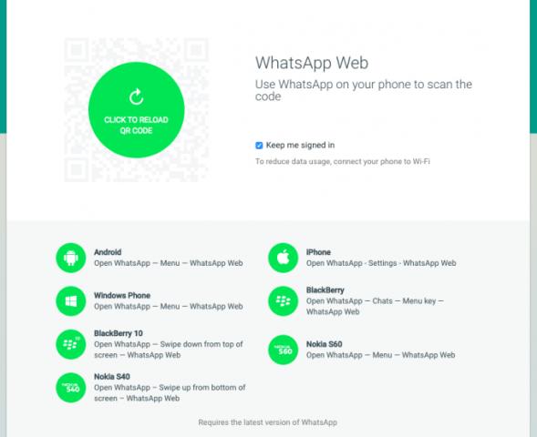 whatsapp για web