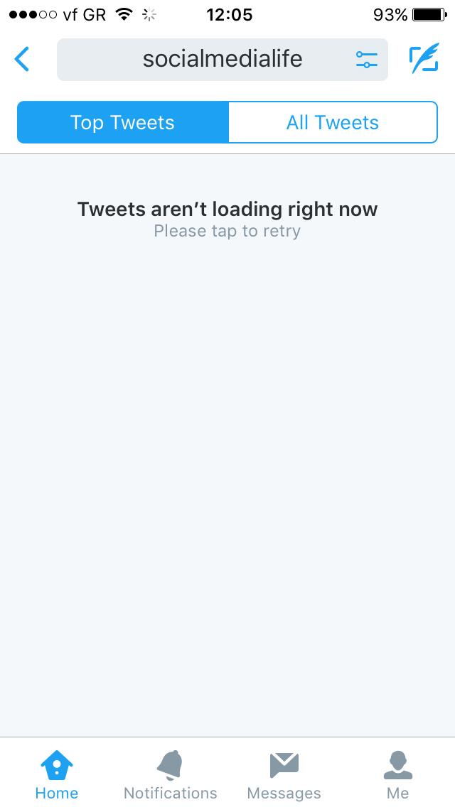 twitter ios app down