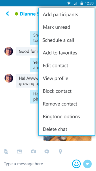skype for android schedule