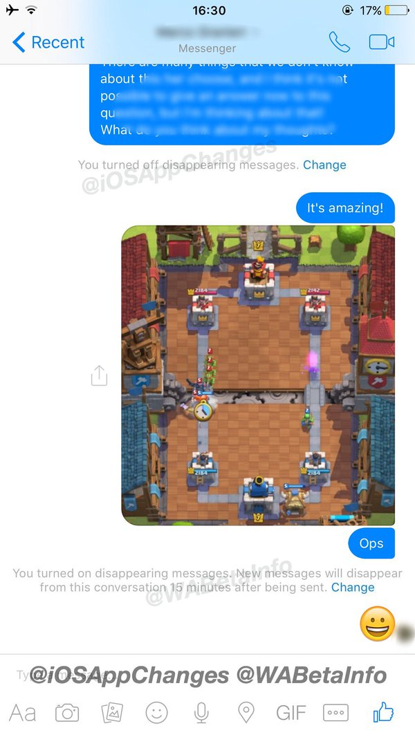 Messenger Disappearing Messages