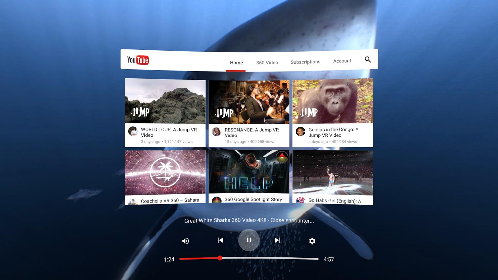 youtube virtual vr