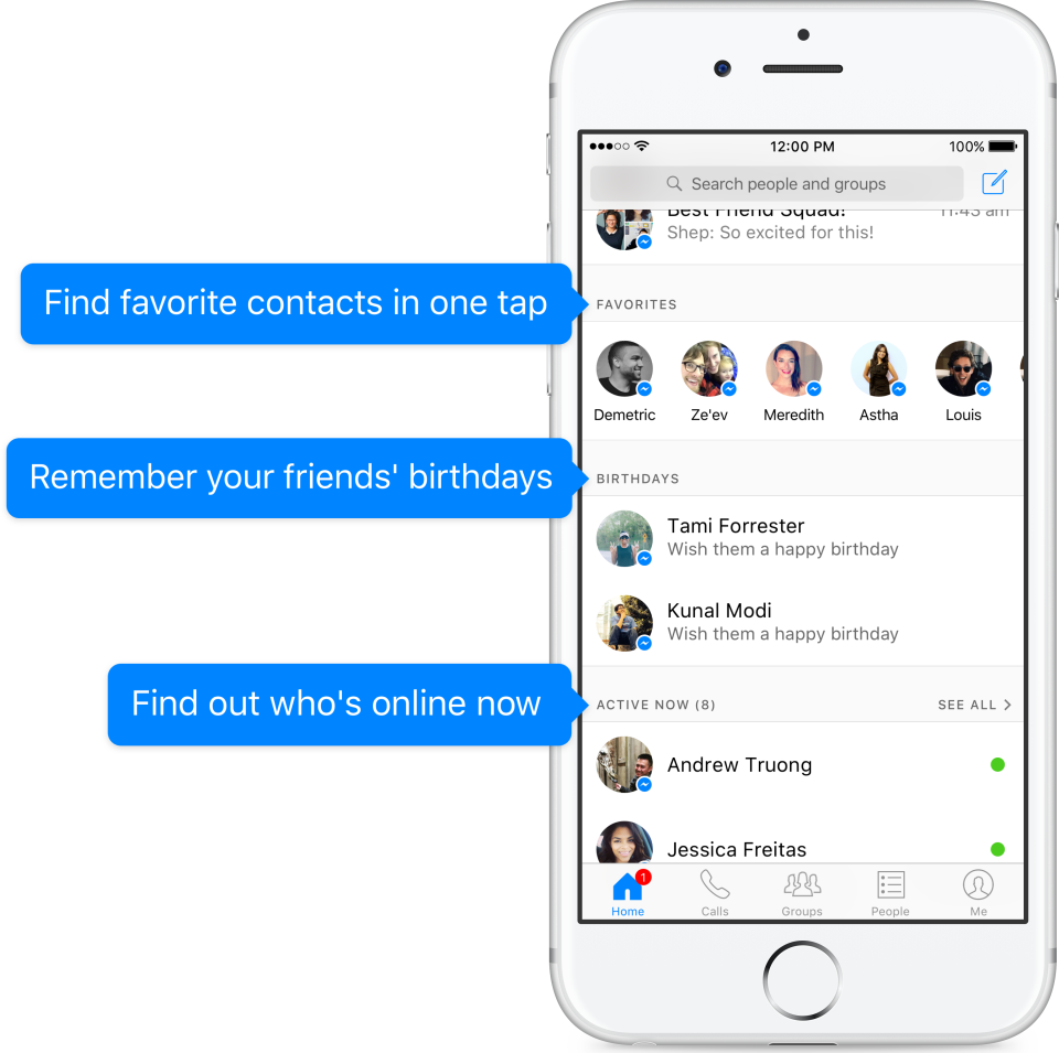 fb messenger update
