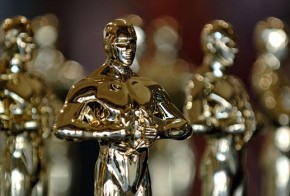 Replicas of Oscar statues on display in Hollywood souvenir store on Hollywood Blvd